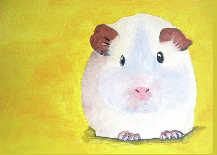 Guinee Greeting Card featuring the painting Guinee Pig by Darren Stein