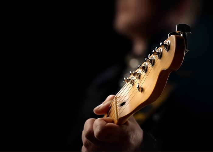 Guitarists Photographs Greeting Cards