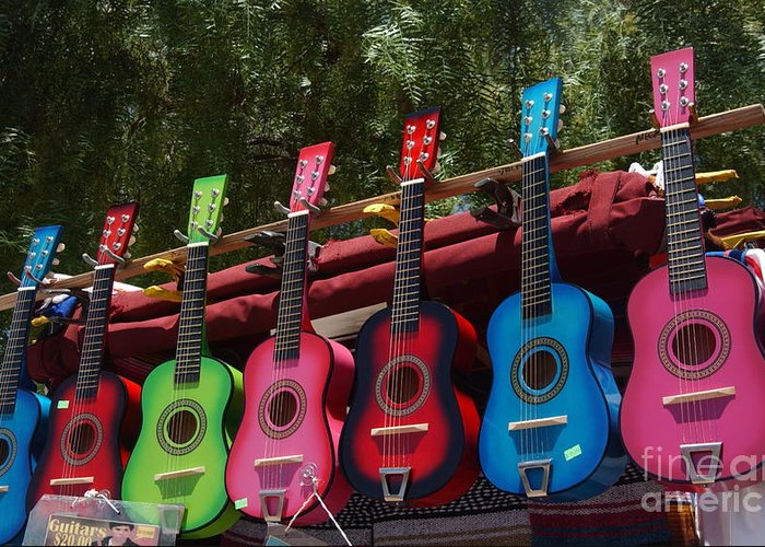 Guitars Greeting Card featuring the photograph Guitars In Old Town San Diego by Anna Lisa Yoder