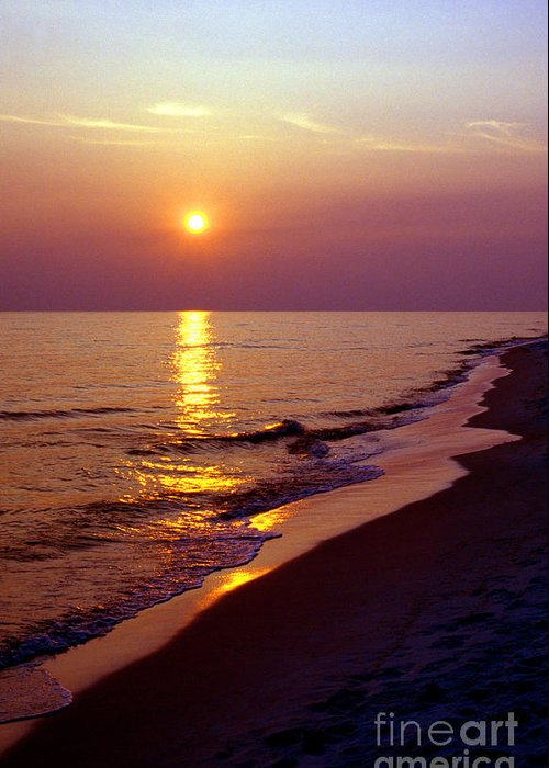 Florida Greeting Card featuring the photograph Gulf Of Mexico Sunset by Thomas R Fletcher