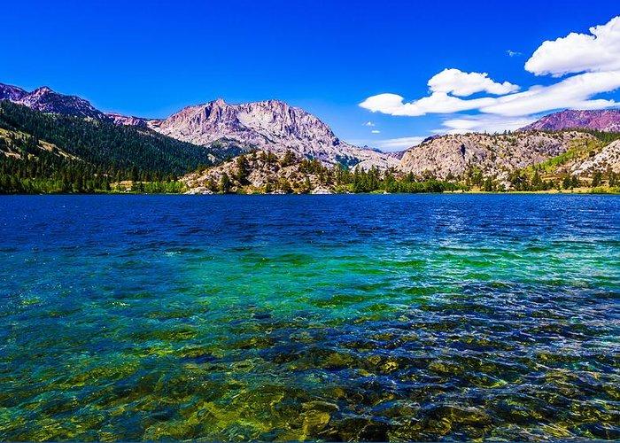gull lake near june lakes california greeting card for sale by scott
