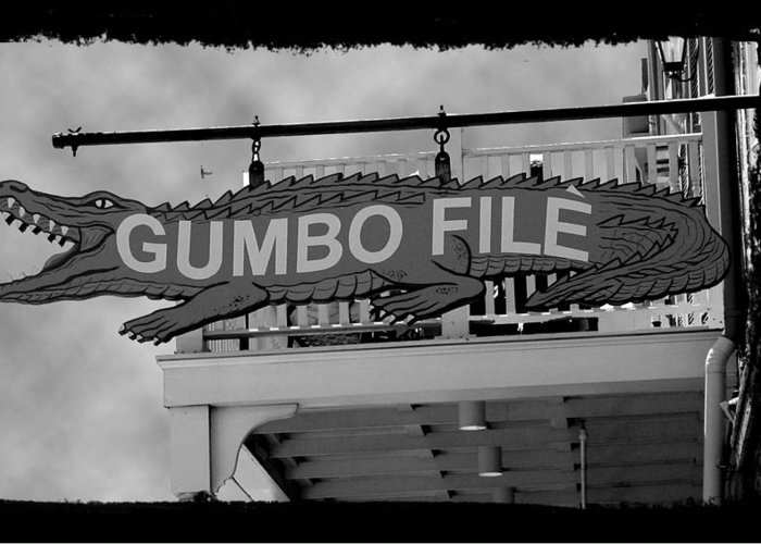 New Orleans Greeting Card featuring the photograph Gumbo File by Linda Kish
