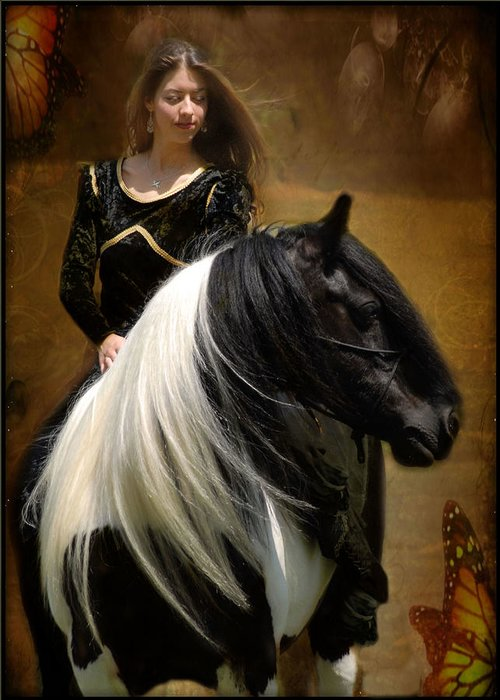 Horses Greeting Card featuring the photograph Gypsy Girl Kate by Fran J Scott