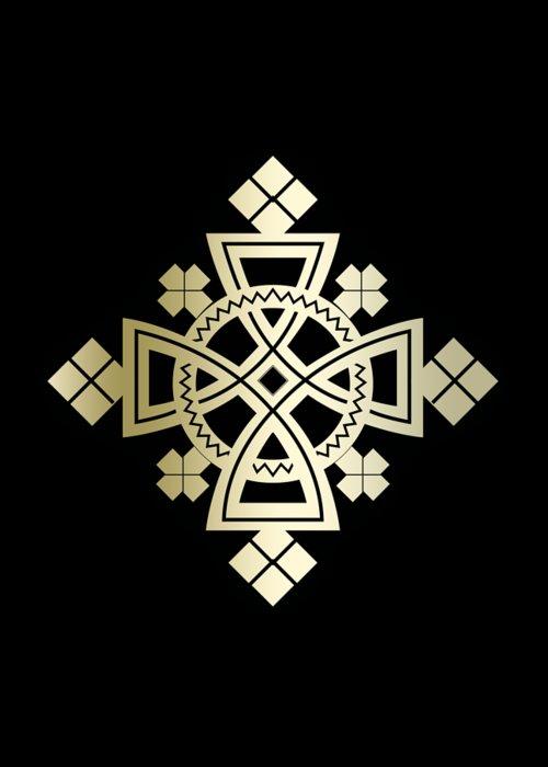 Habesha Greeting Card featuring the digital art Habesha Holy Cross by Filmon Tesfatsion