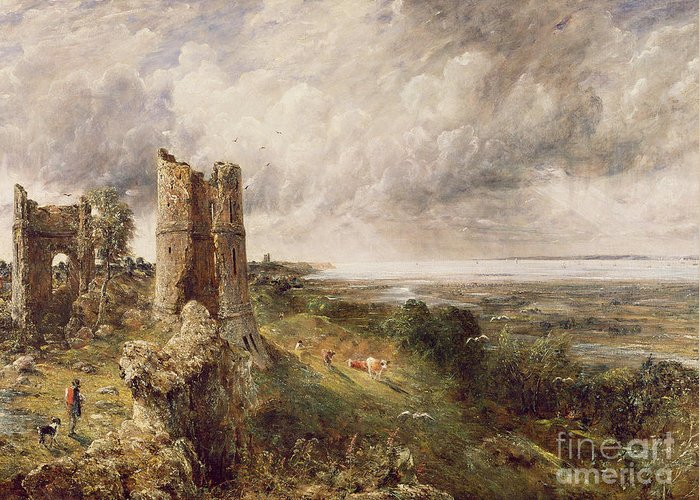 Hadleigh Greeting Card featuring the painting Hadleigh Castle by John Constable