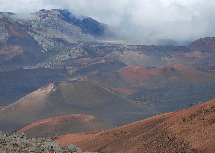 Haleakala Greeting Card featuring the photograph Haleakala Summit by Nataliya Dmitrieva