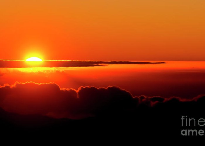 Sunrise Greeting Card featuring the photograph Maui Hawaii Haleakala National Park Sunrise IIi by Jim Cazel