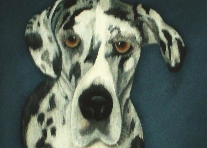 Portraites Greeting Card featuring the painting Haley by Rebecca Fitchett