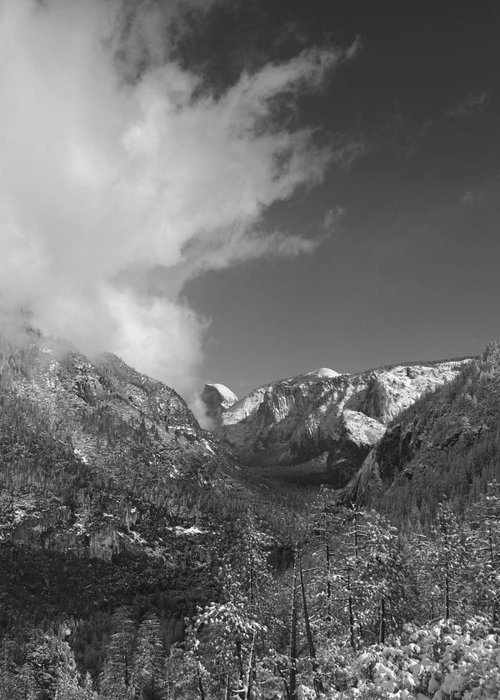 Half Dome Greeting Card featuring the photograph Half Dome Winter by Travis Day