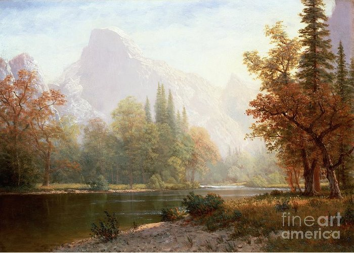 Half Dome Paintings Greeting Cards