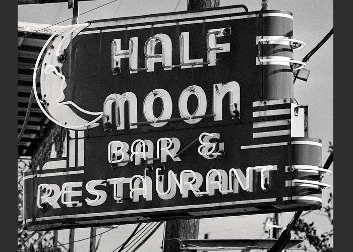 Half Moon Bar Sign, Neon Lights, Old Bar Signs - New