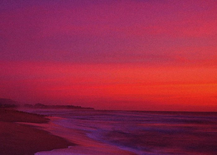 Half Moon Bay Greeting Card featuring the photograph Half Moon Bay Sunset by Vicky Brago-Mitchell