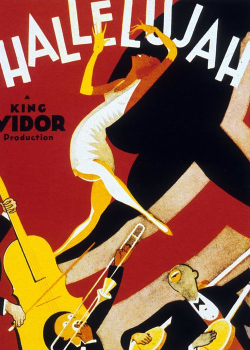 Jazz Greeting Card featuring the drawing Hallelujah by American School