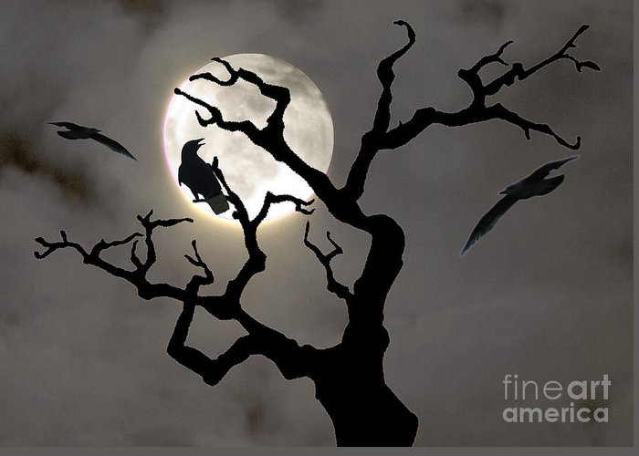 Moon Greeting Card featuring the photograph Halloween by Jim Wright