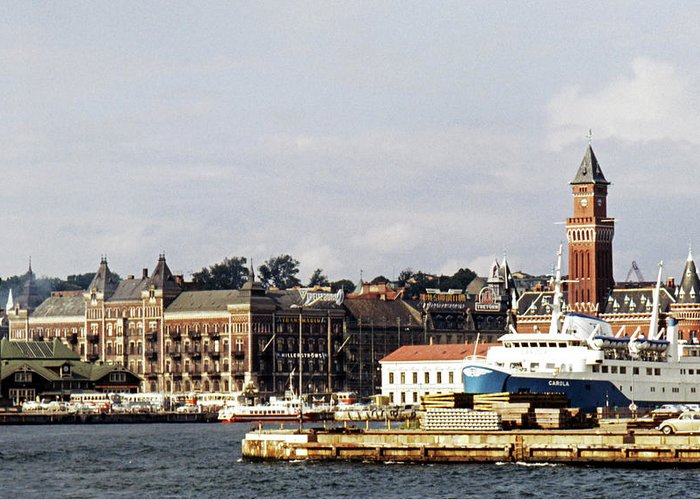 Sweden Greeting Card featuring the photograph Halsingborg 1 by Lee Santa