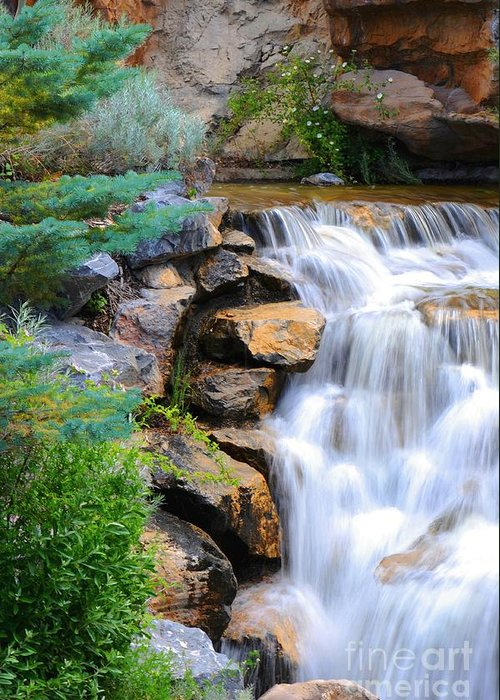 Waterfall Greeting Card featuring the photograph Hammer's Cascade by Dennis Hammer