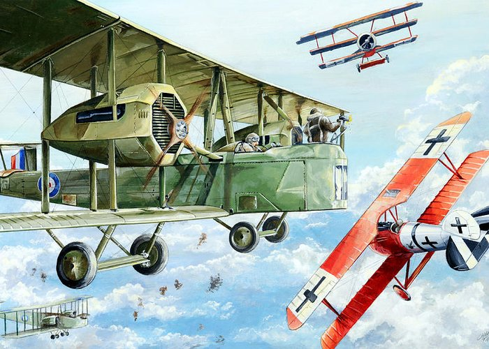 Bomber Greeting Card featuring the painting Handley Page 400 by Charles Taylor