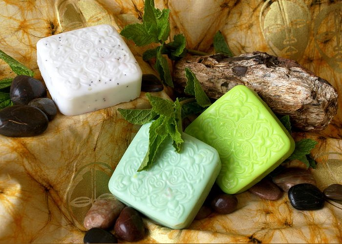 Handmade Soaps Greeting Card featuring the photograph Handmade Soap by Sonja Anderson