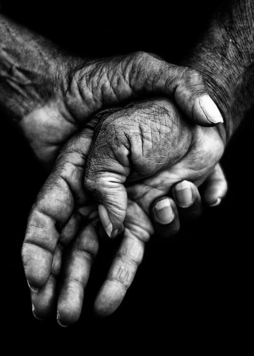 Hands Greeting Card featuring the photograph Hands by Gustavo Rossi
