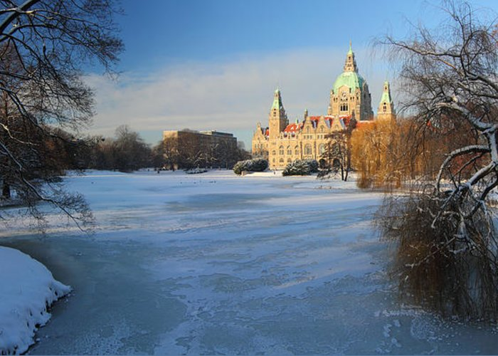 Hanover Greeting Card featuring the photograph Hanover In Winter by Marc Huebner
