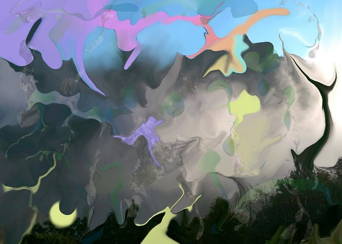 Mist Greeting Card featuring the digital art Haper's Ferry Spirits by Peter Shor