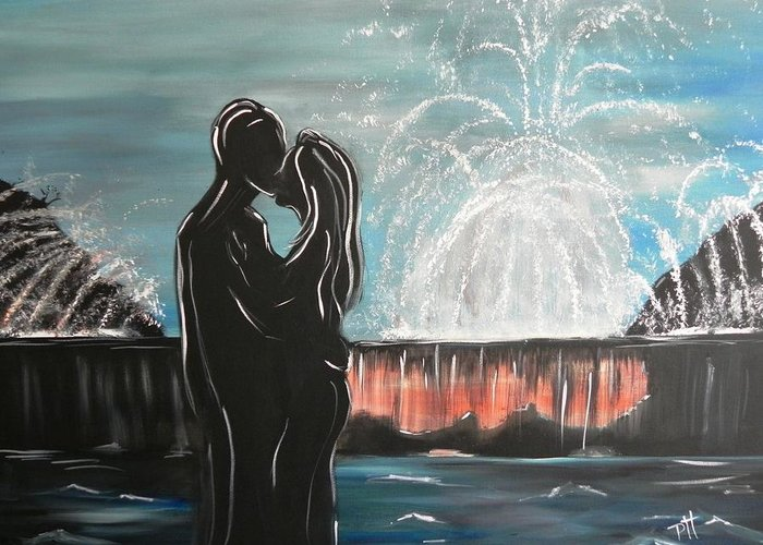 Couple Greeting Card featuring the painting Happily Ever After by Patti Spires Hamilton
