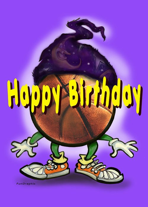 Happy Birthday Greeting Card featuring the greeting card Happy Birthday Basketball Wiz by Kevin Middleton