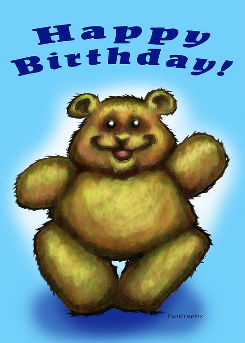Happy Birthday Greeting Card featuring the greeting card Happy Birthday Bear by Kevin Middleton