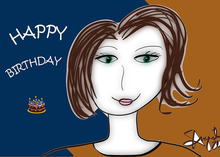 Inspire Greeting Card featuring the drawing Happy Birthday by Sharon Augustin
