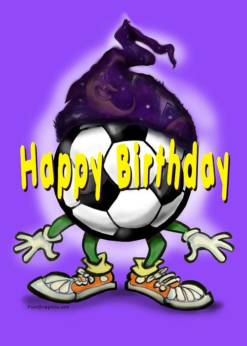 Soccer Greeting Card featuring the greeting card Happy Birthday Soccer Wizard by Kevin Middleton