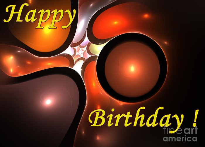 Happy Birthday Greeting Card featuring the digital art Happy Birthday by Steve K