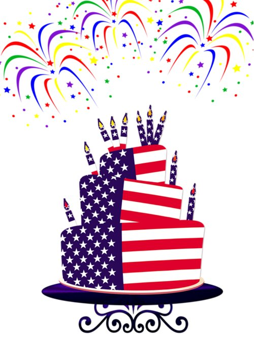 Happy Birthday Usa Greeting Card For Sale By Anne Kitzman