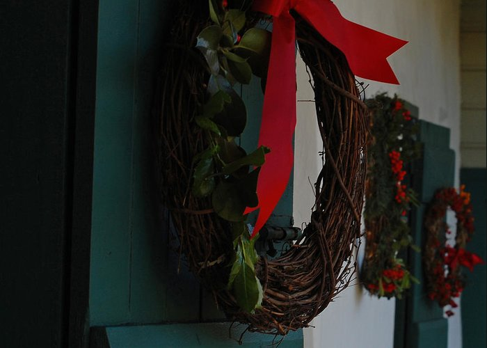 Wreaths Greeting Card featuring the photograph Happy Holidays by Jean Booth