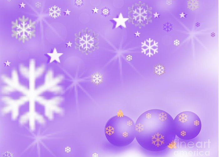 Happy Holidays Purple Seasons Greetings Christmas Joy Card Merry Bright Enjoy Dream Wallpaper Festive Lights Decoration Digital Art Blue Green White Violet Red Yellow Orange Golden Shine Phone Photo Twilight Wonder Sunset Evening Dawn Morning Bliss Sunrise Happiness Landscape Glow Dahlia Magenta Painting Sunflower Flower Elegant Sky Night Moon Moonshine Nature Dusk Tote Watercolor Bloom Love Gift Girl Women Soft Sweet Photo Picture Garden Beautiful Lover Romance Dawn Afternoon Awesome Charm Mug Greeting Card featuring the digital art Happy Holidays by Nisha Verma