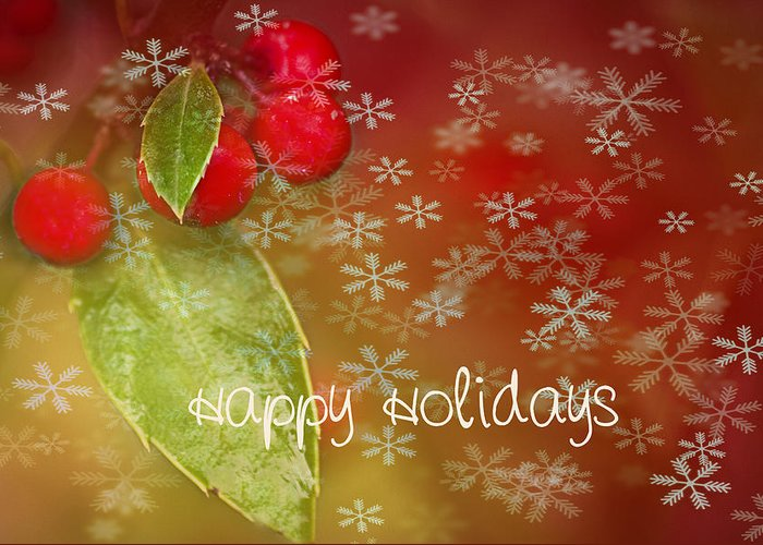 Christmas Greeting Card featuring the photograph Happy Holidays by Rebecca Cozart