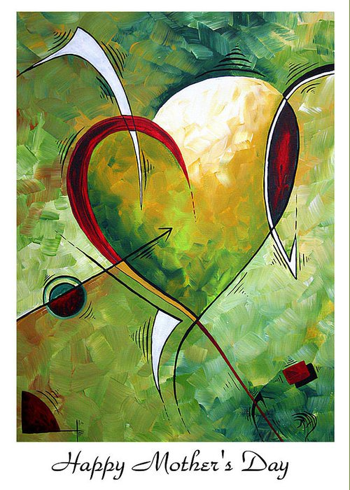 Art Greeting Card featuring the painting Happy Mother's Day By Madart by Megan Duncanson