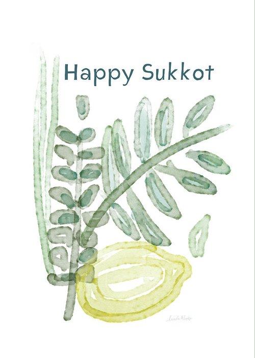 Happy sukkot art by linda woods greeting card for sale by linda woods sukkot greeting card featuring the mixed media happy sukkot art by linda woods by linda m4hsunfo