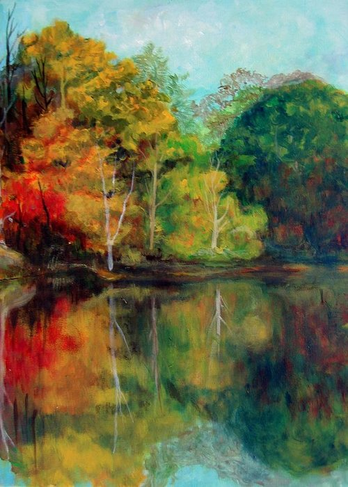 Happy Valley Greeting Card featuring the photograph Happy Valley Pond by Lyn Vic