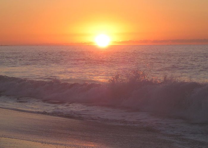 Sunrise Greeting Card featuring the photograph Happy Waters by Fredrecka Bagnato