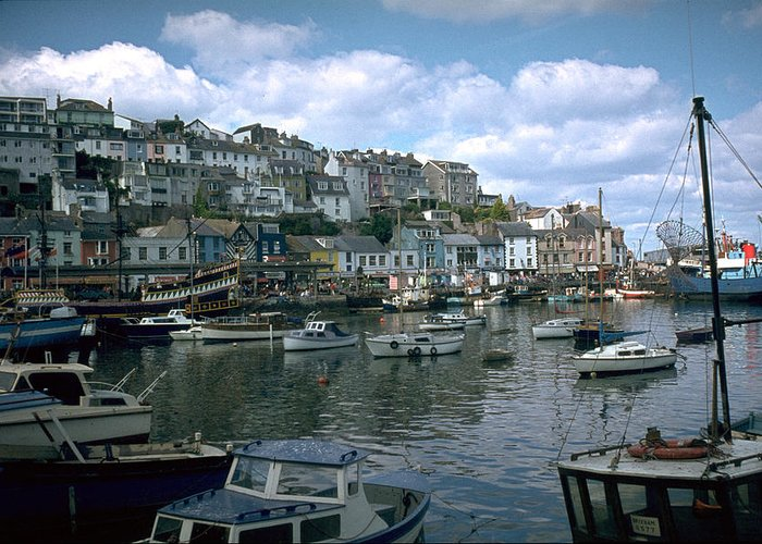 Great Britain Greeting Card featuring the photograph Harbor by Flavia Westerwelle