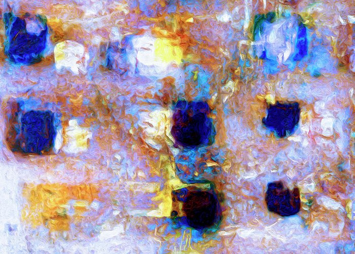 Abstract Greeting Card featuring the painting Hard Eight by Dominic Piperata