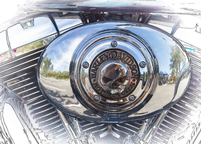 Wall Art Greeting Card featuring the photograph Harley Davidson Motorcycles Art by J Darrell Hutto