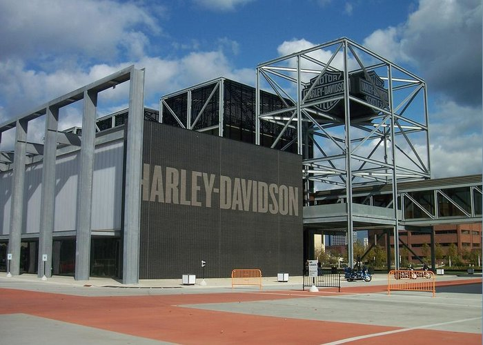 Greeting Card featuring the photograph Harley Museum by Anita Burgermeister