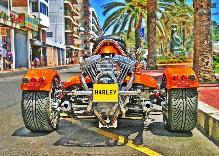 Harley Davidson Greeting Card featuring the photograph Harley Trike by Brian Middleton