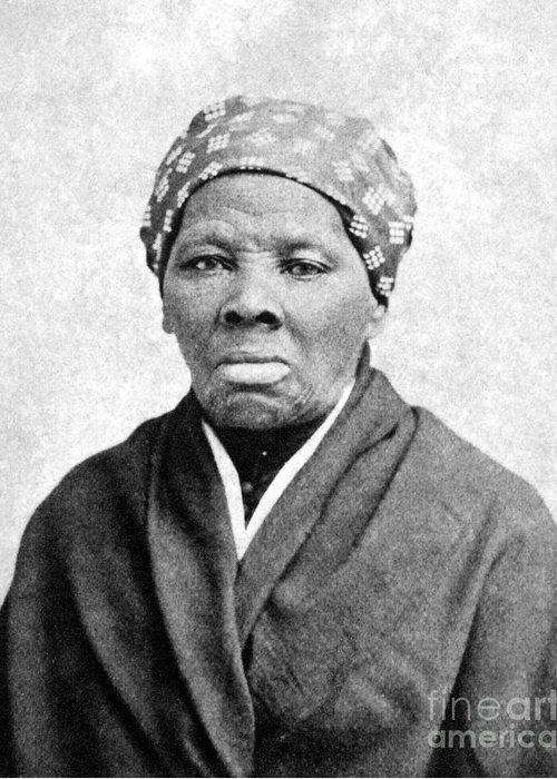 1895 Greeting Card featuring the photograph Harriet Tubman (1823-1913) by Granger