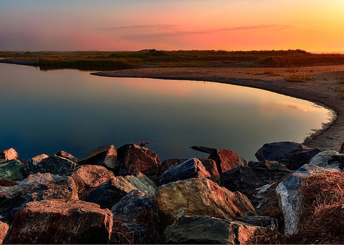 New Jersey Greeting Card featuring the photograph Hartford Inlet by David Oakill