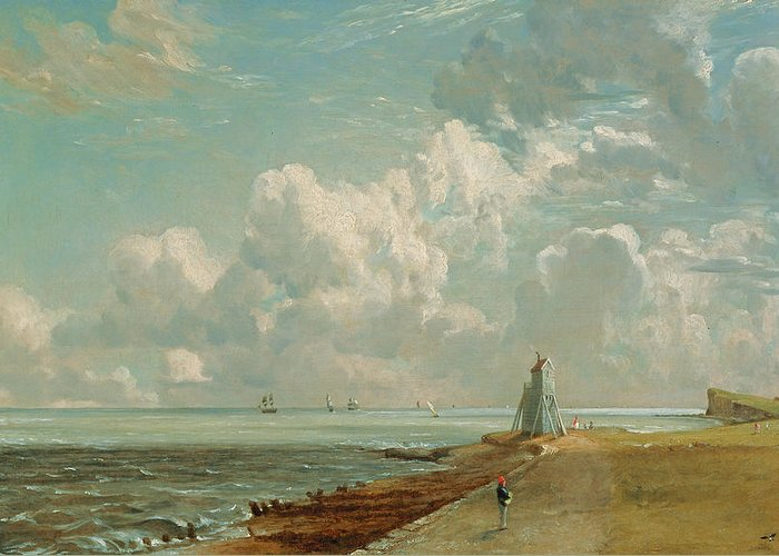Harwich Greeting Card featuring the painting Harwich - The Low Lighthouse And Beacon Hill by John Constable