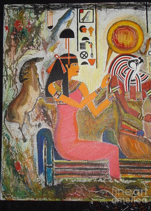 Hathor Mixed Media Greeting Cards