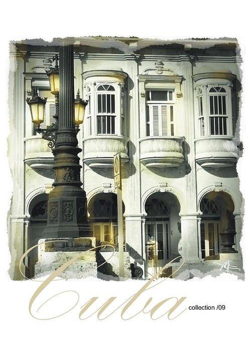 Havana Greeting Card featuring the photograph Havana Facade by Bob Salo