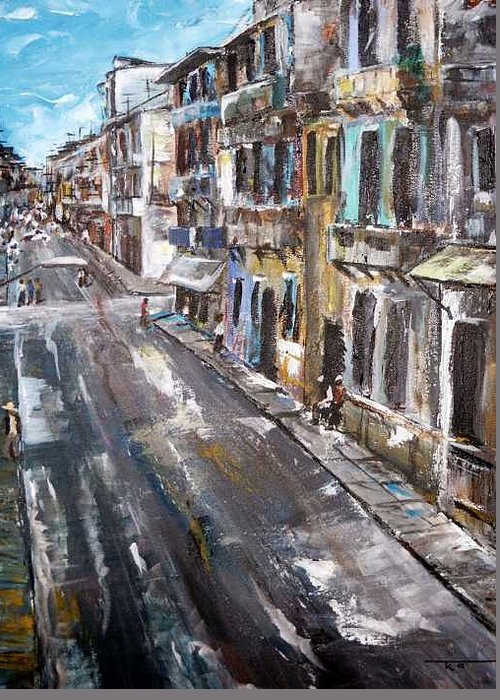 Cuba Greeting Card featuring the painting Havana by Travis Kelley